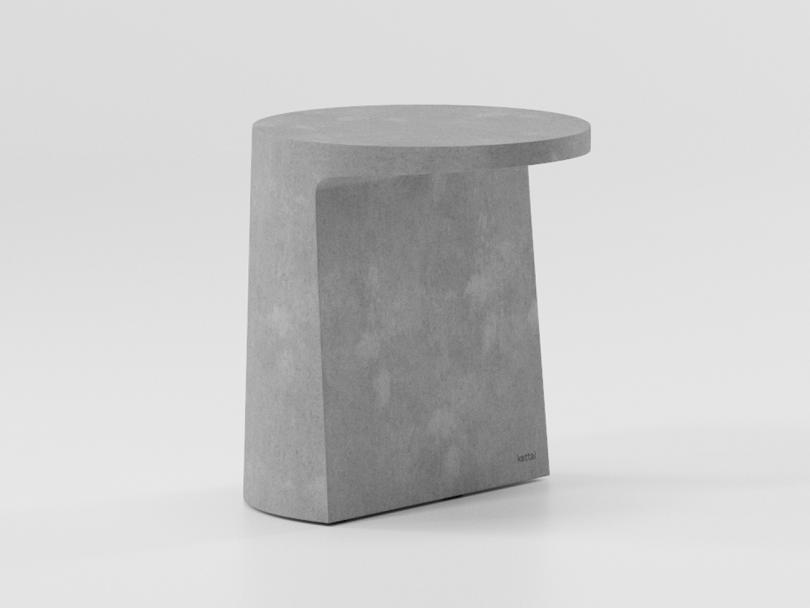 angular grey outdoor table