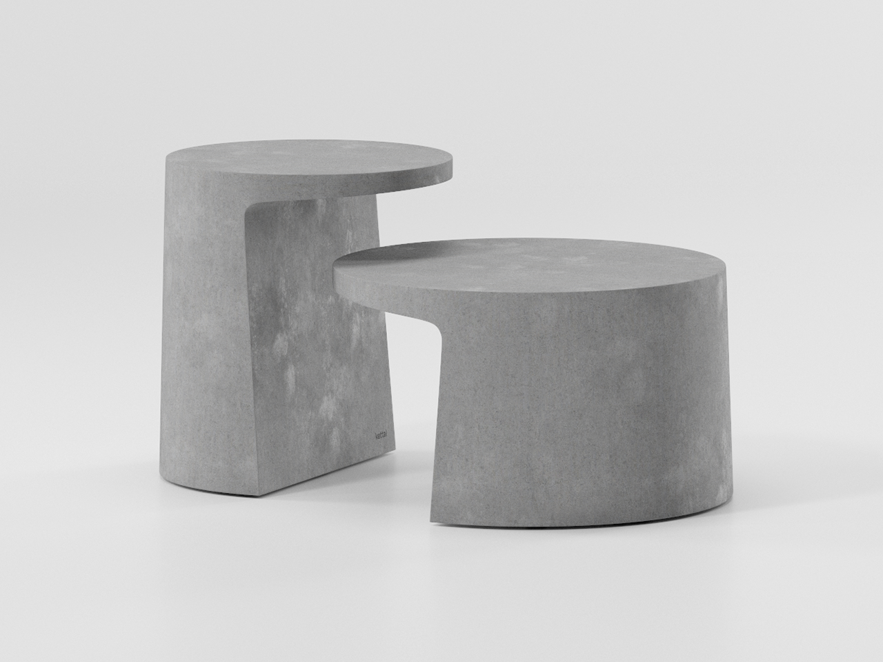 angular grey outdoor tables