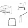 sketches of armchair