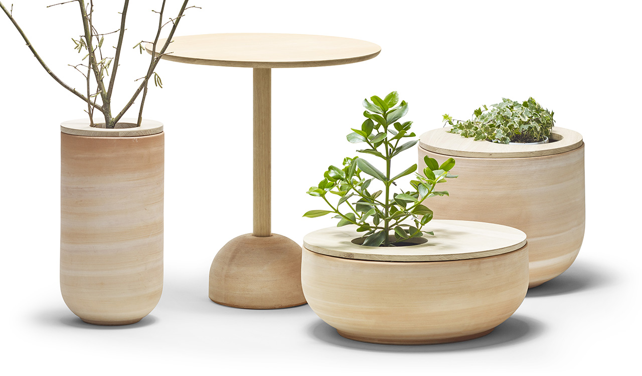 The Lur Collection Pulls Double Duty as Planter + Furniture