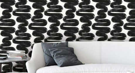 Temporary Digs? Try Bold Black + White Removable Wallpaper From Tempaper