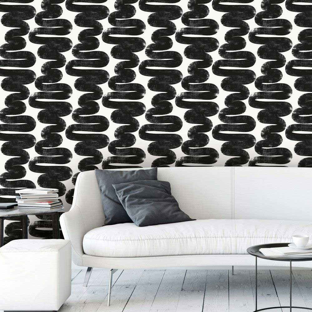 Attempt Daring Black + White Detachable Wallpaper From Tempaper