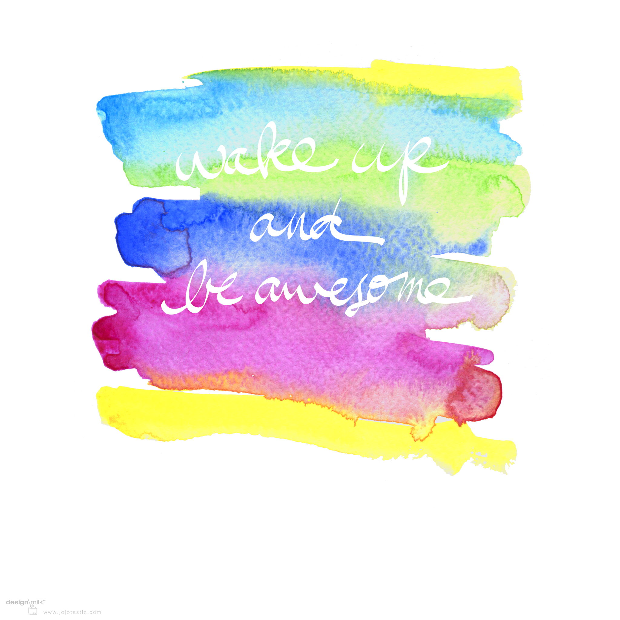 Colorful Rainbow Watercolor Desktop Background